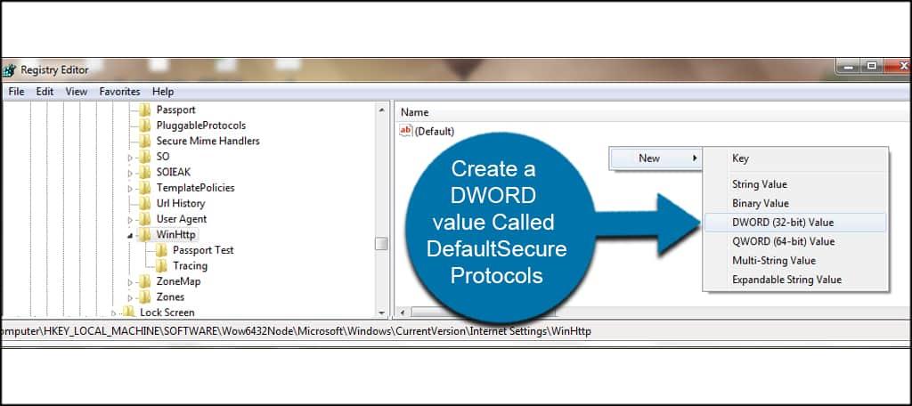 create dword value