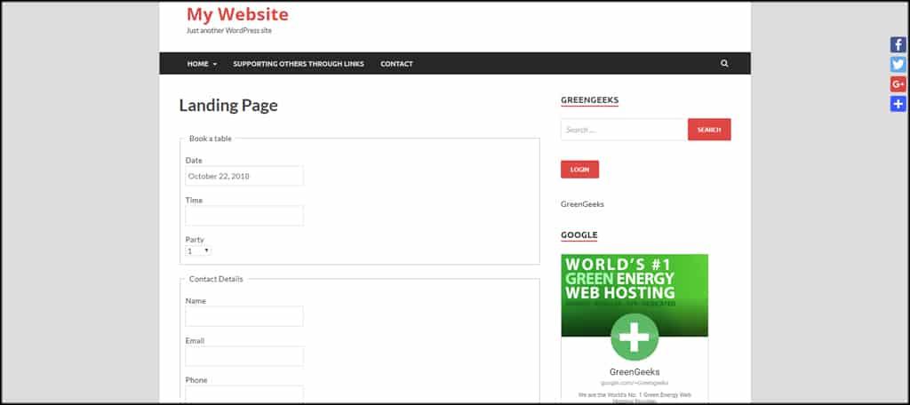 Booking Landing Page