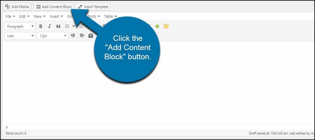 Content Block Button