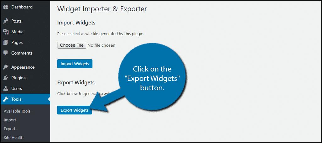 Export Widgets