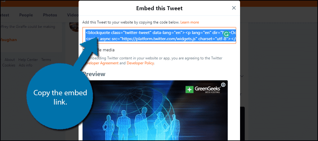How to Embed Tweets in WordPress - GreenGeeks