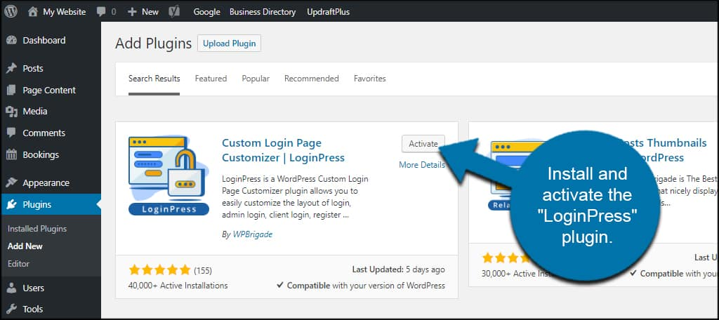 LoginPress Activate