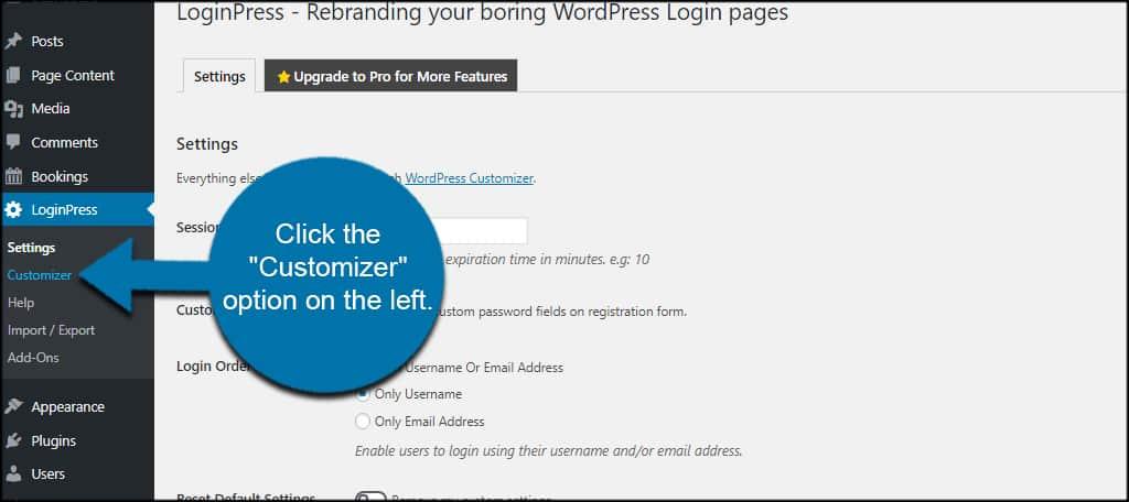 LoginPress Customizer