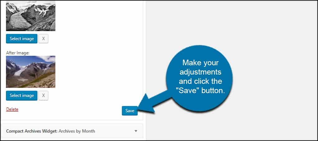 Save Widget Settings