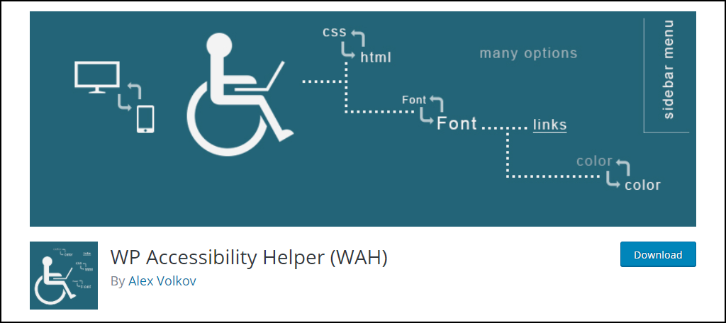 WP Accessibility Helper (WAH)