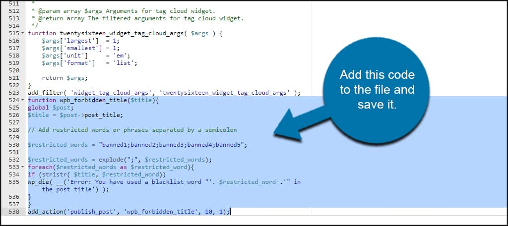 Add PHP Code
