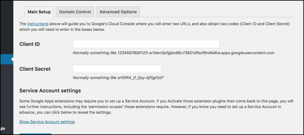 Client id and client secret code