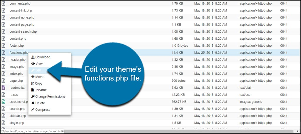 Edit Functions PHP