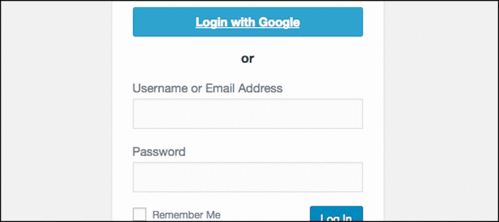 Google one click login button