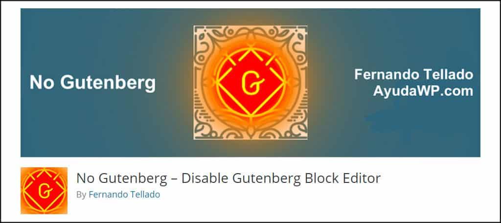 No Gutenberg
