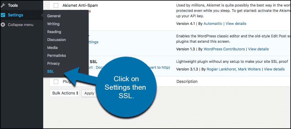 Really simple ssl settings