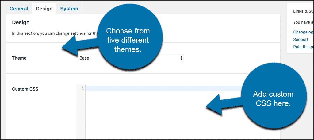 Helpful wordpress feedback plugin design settings