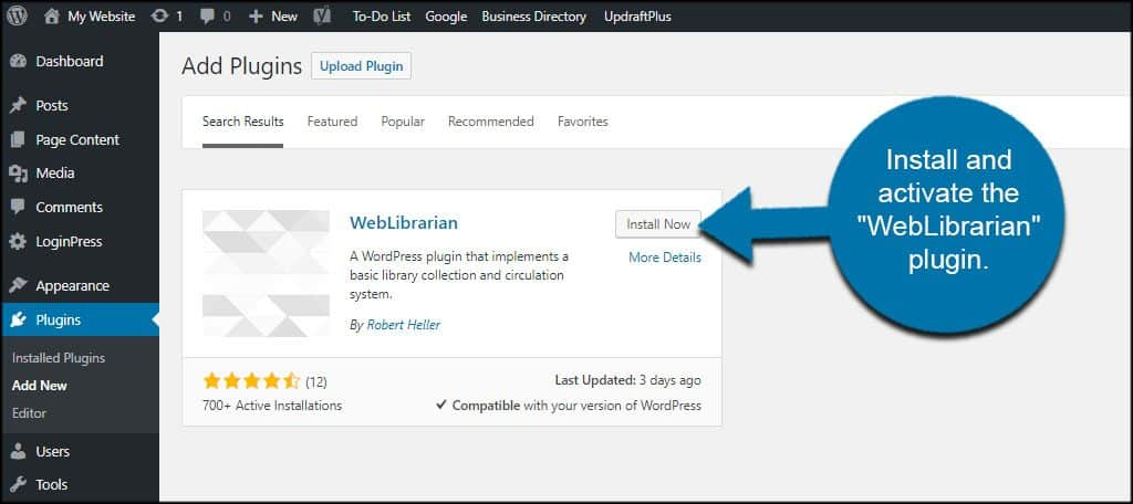 WebLibrarian for WordPress