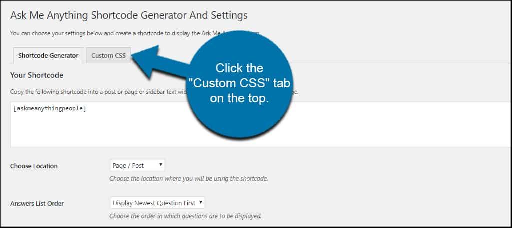 Custom CSS Tab