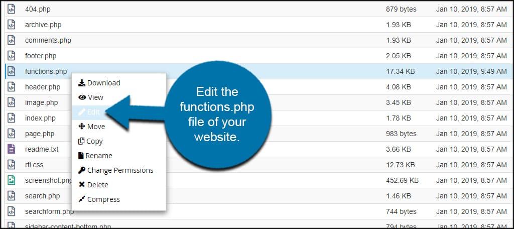Edit Functions File