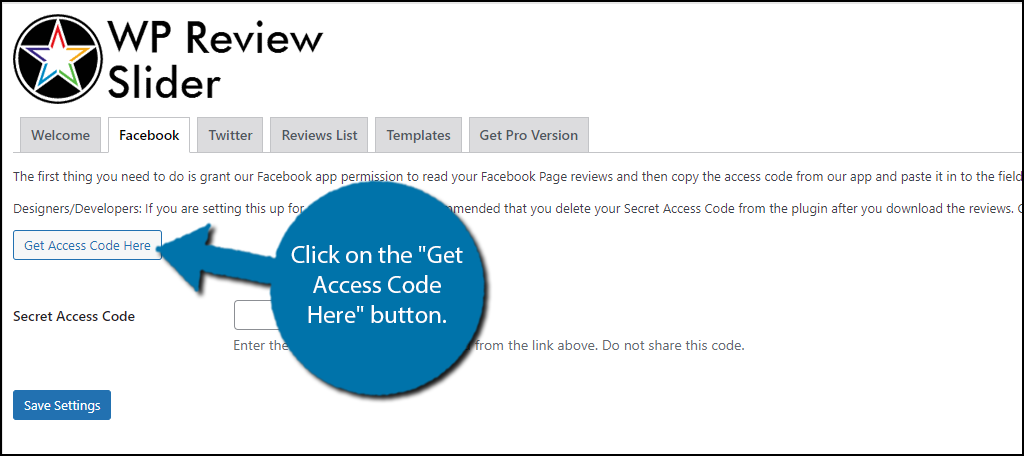 Get Access Code Here