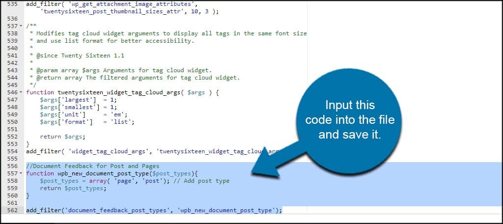 Input Code