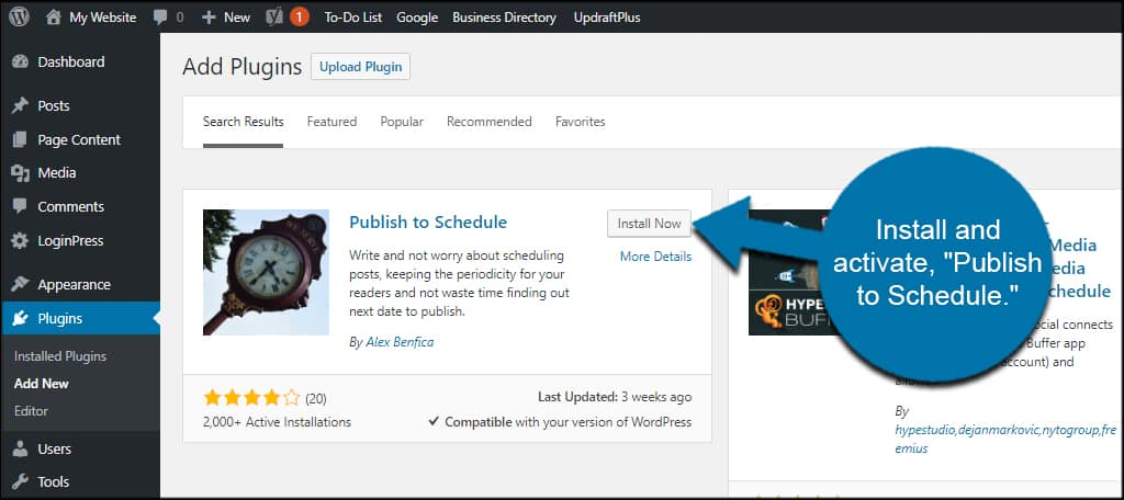 Publish To Schedule