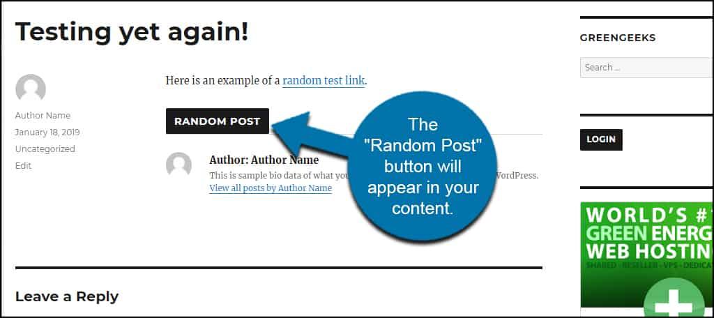 Random Post Button