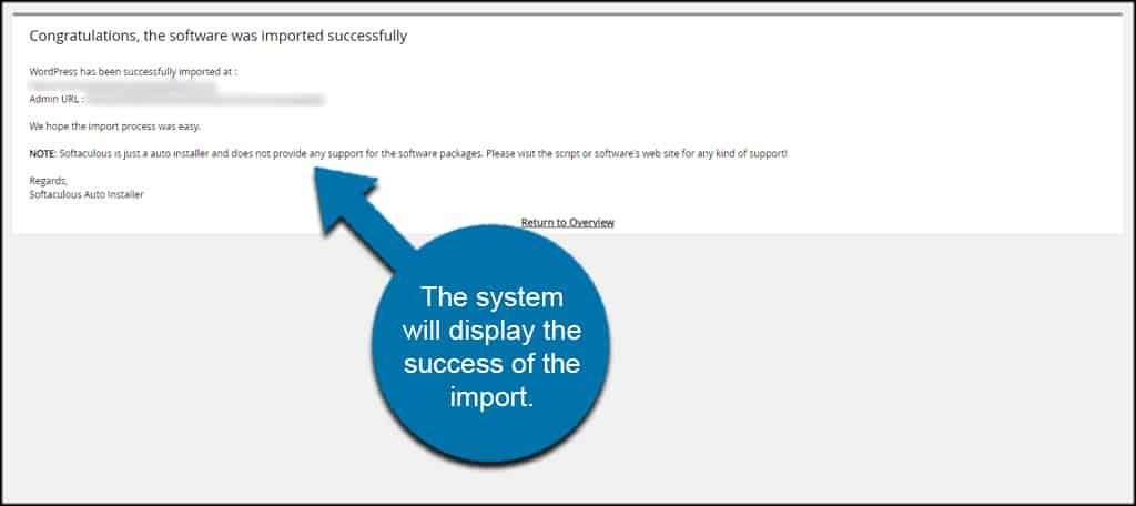 Success Softaculous Import