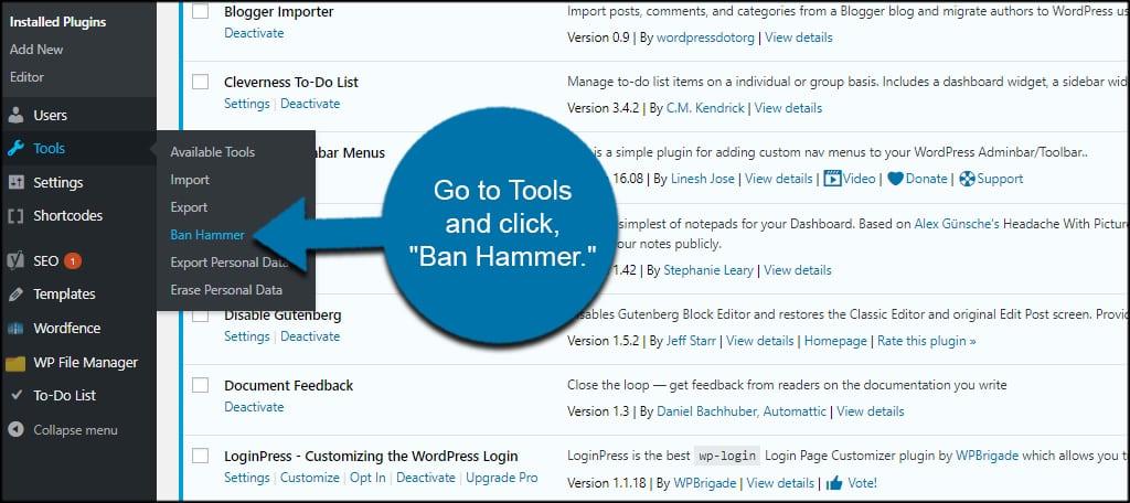 Tools Ban Hammer
