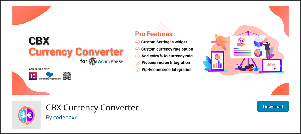 CBX Currency Converter plugin
