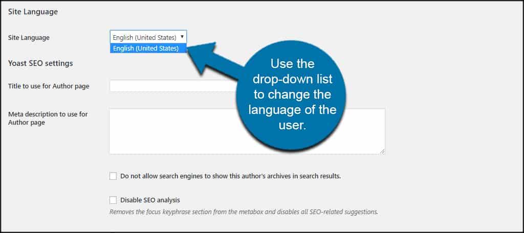 Changer User Language