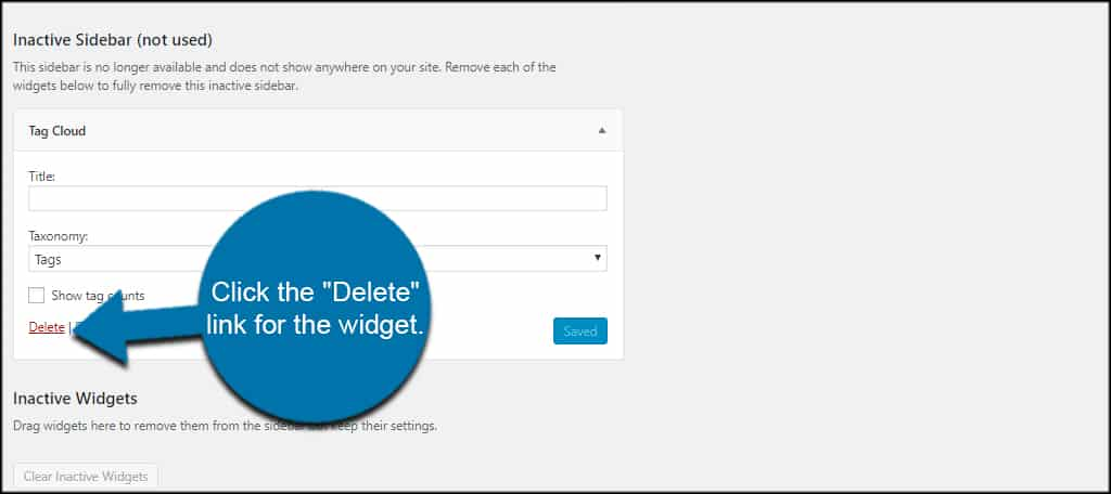 Delete Widget