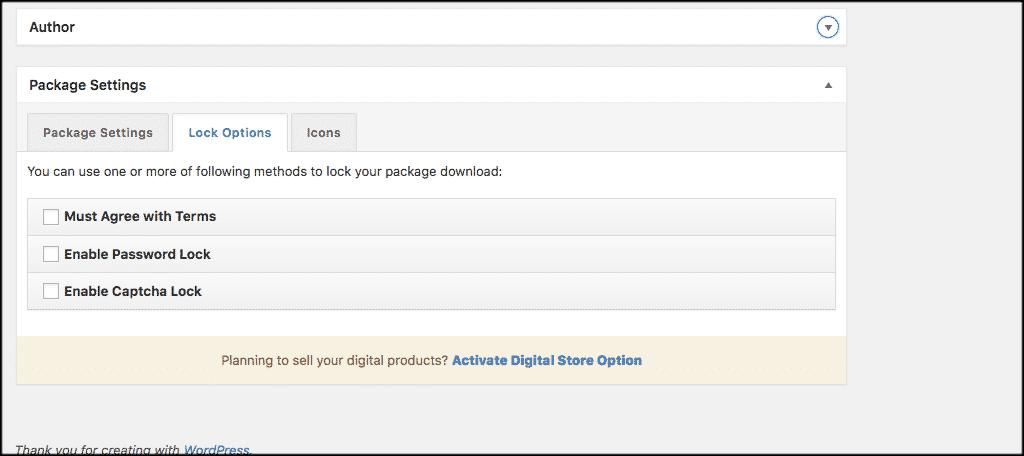 Wordpress download manager lock options