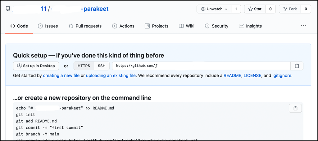 Select repository for git pull request