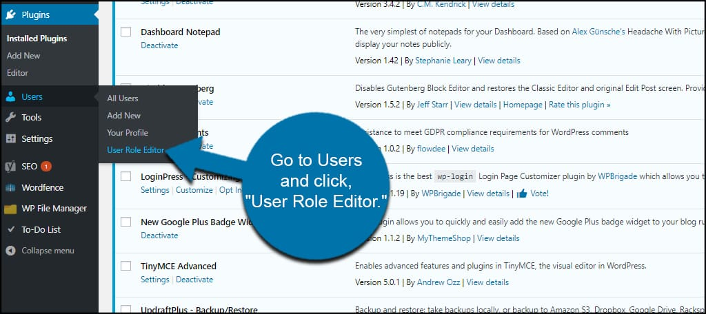 User Role Editor Tool