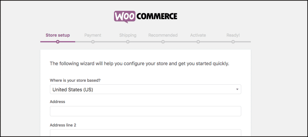 Woocommerce setup wizard for manage file downloads WooCommerce