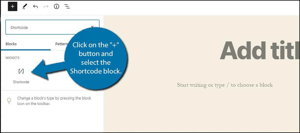 Shortcode Block