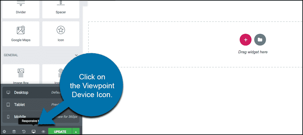 Click on the viewpoint device icon