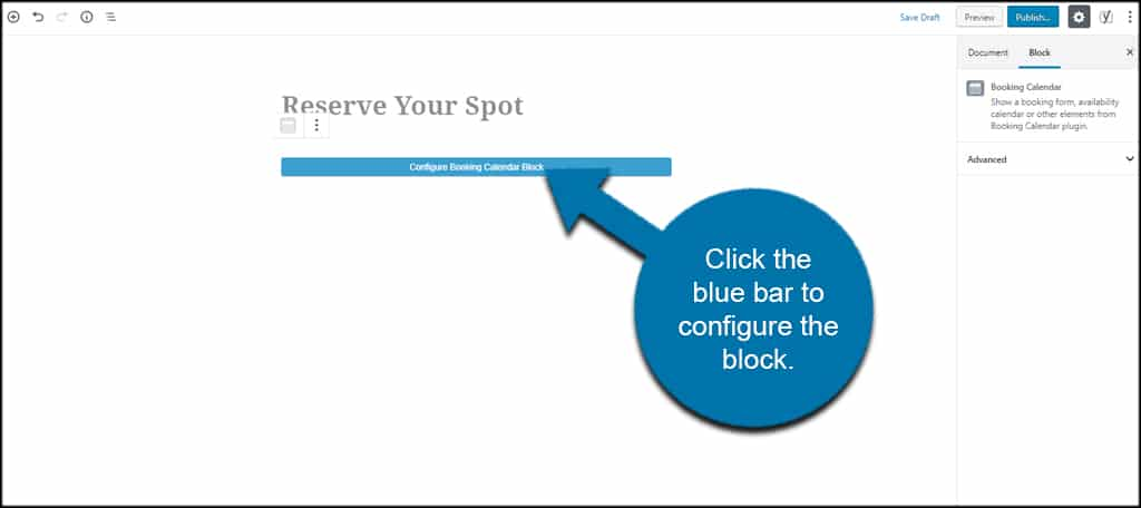 Configure Block