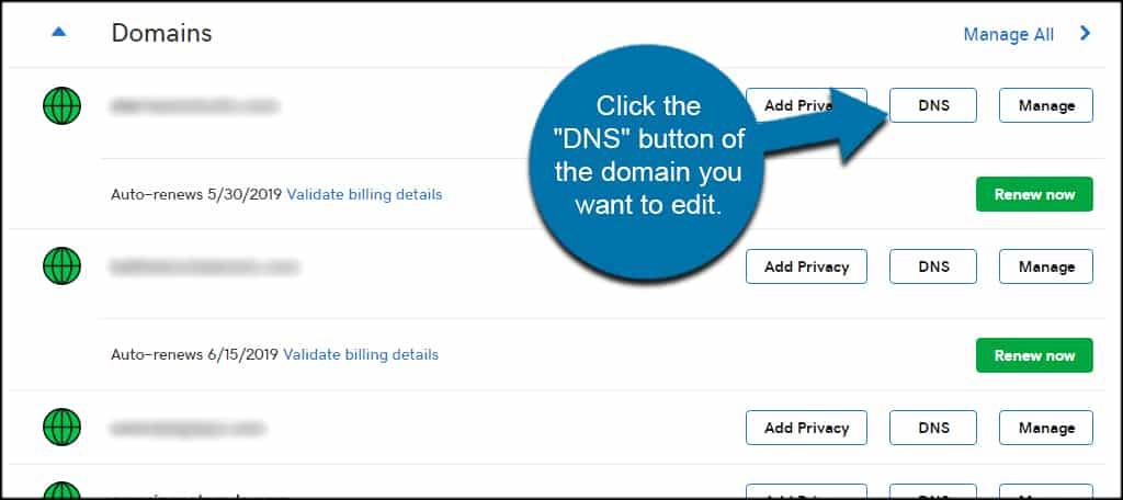 GoDaddy DNS