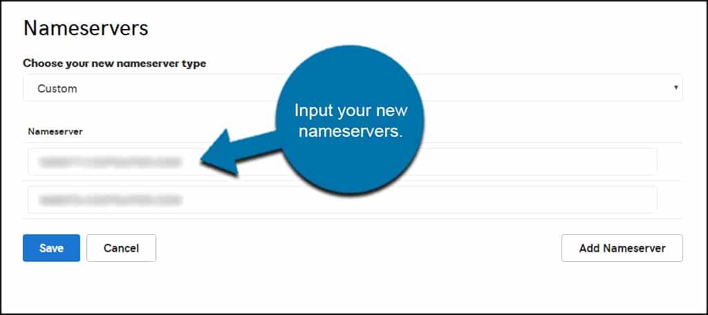 Input Nameservers