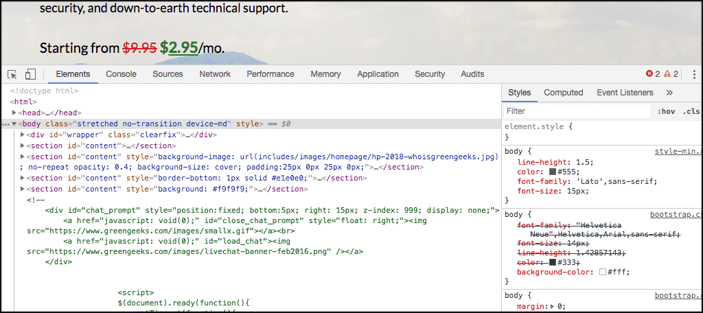 Inspector tools are now opened in chrome
