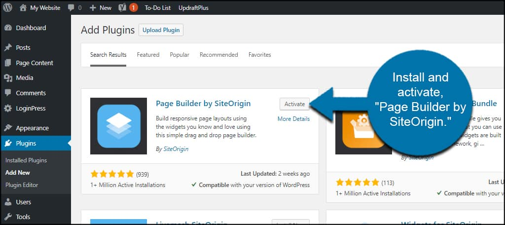 Install Page Builder