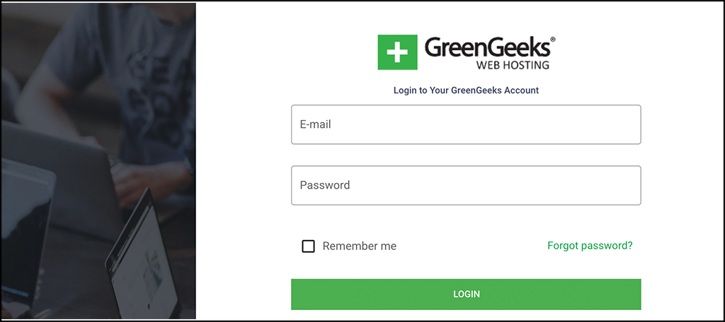 GreenGeeks login for SitePad