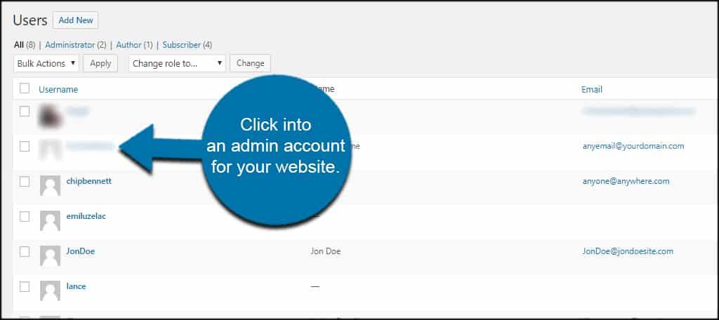 Open Admin Account