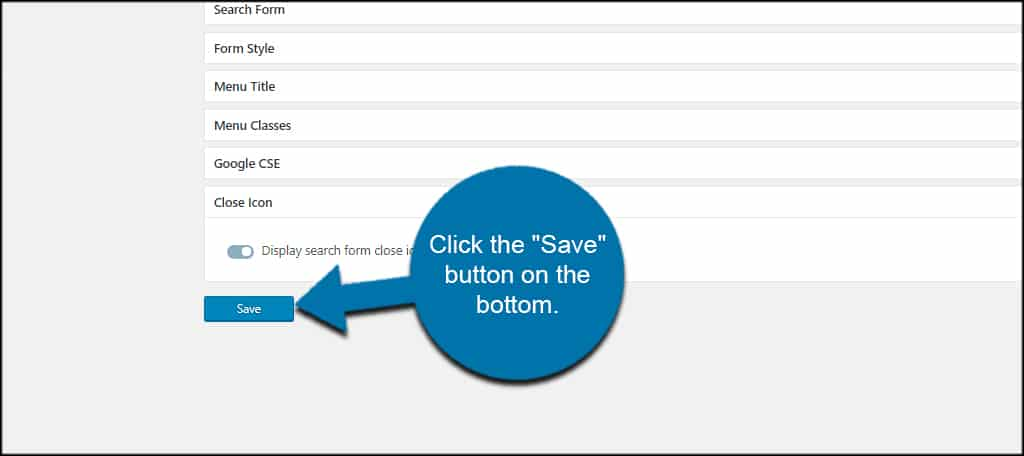 Save Search Settings