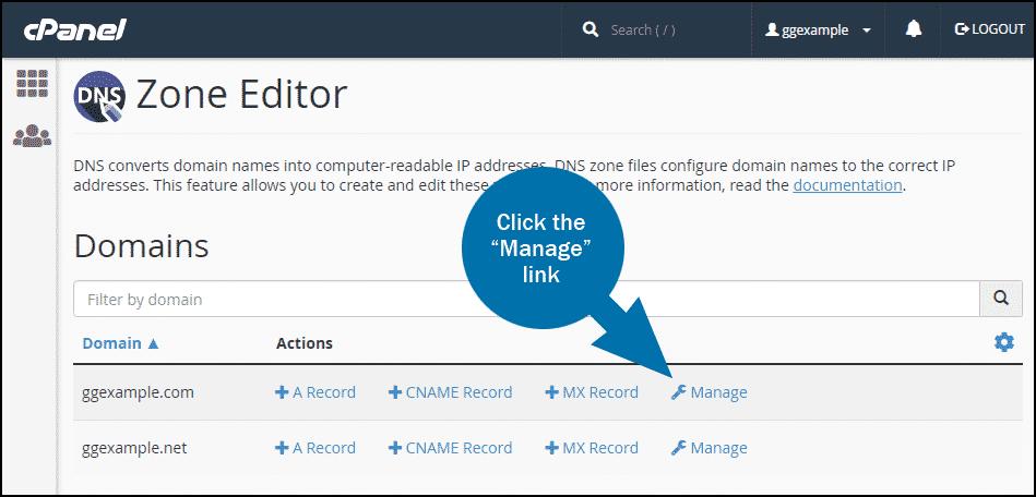 cPanel DNS configure DMARC step 1