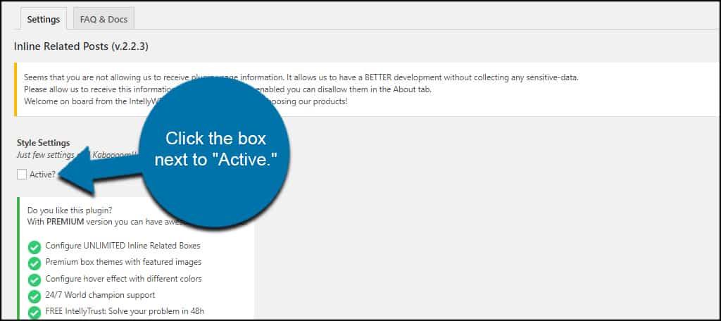 Activate Inline Posts