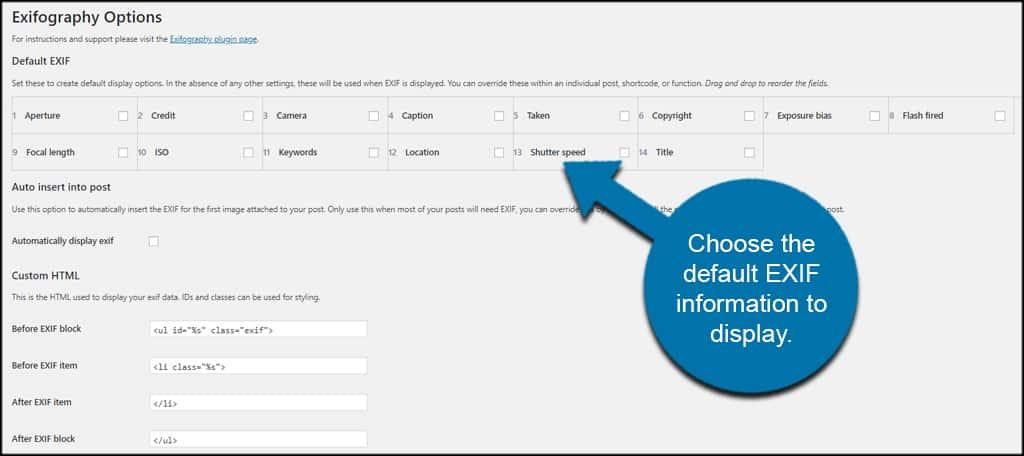 Default Exif Info