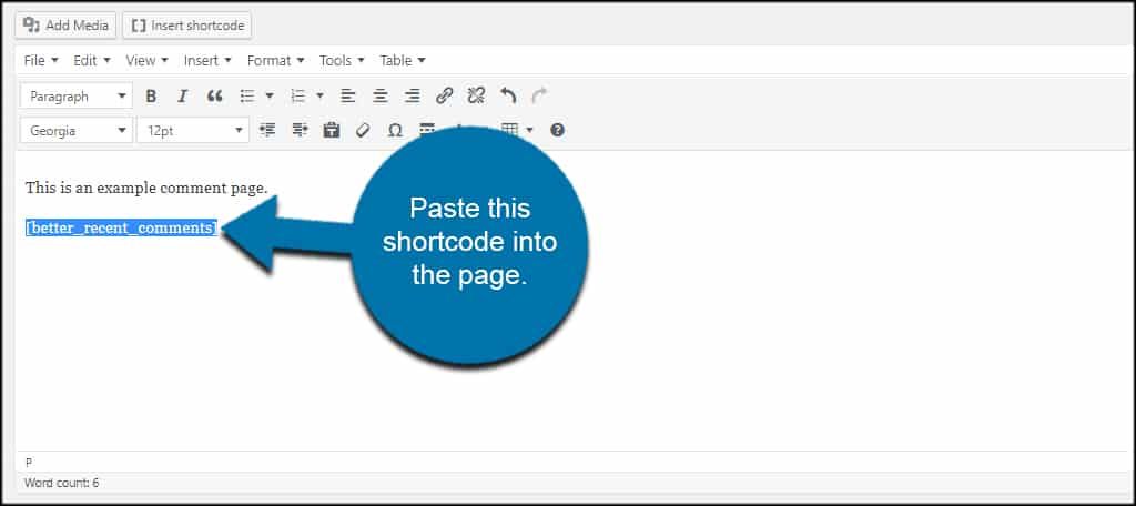 Paste Shortcode