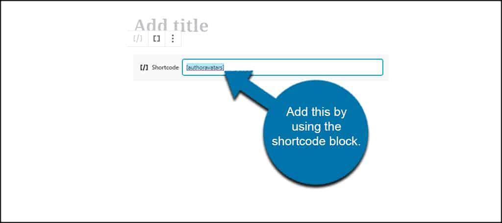 Show Author Avatars Block