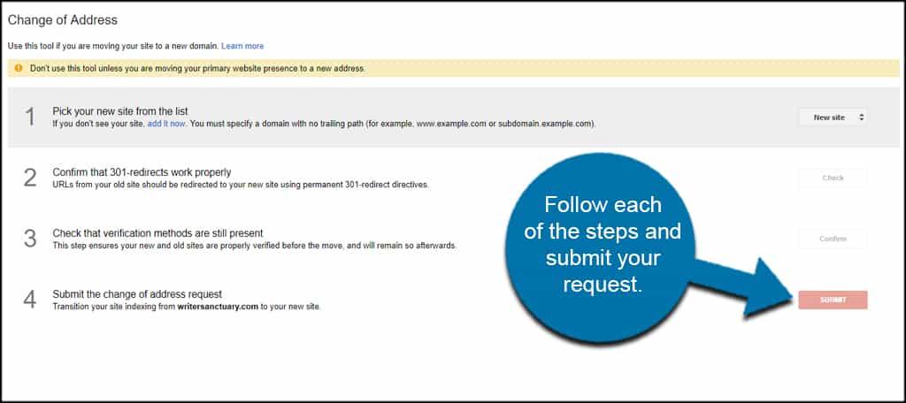 Submit Change Of Address