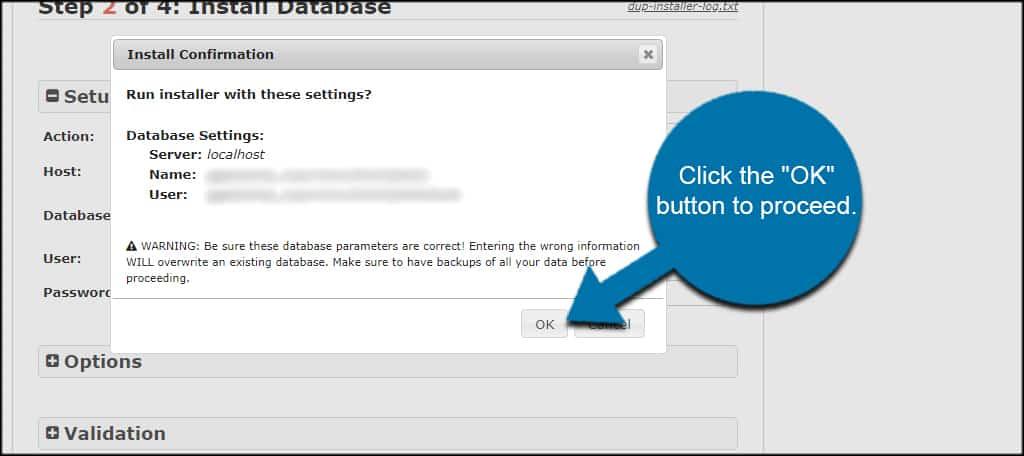 Verify Database