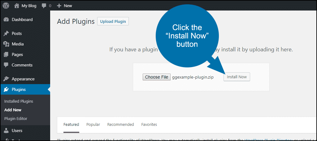 tutorial create site-specific custom WordPress plugin step 8